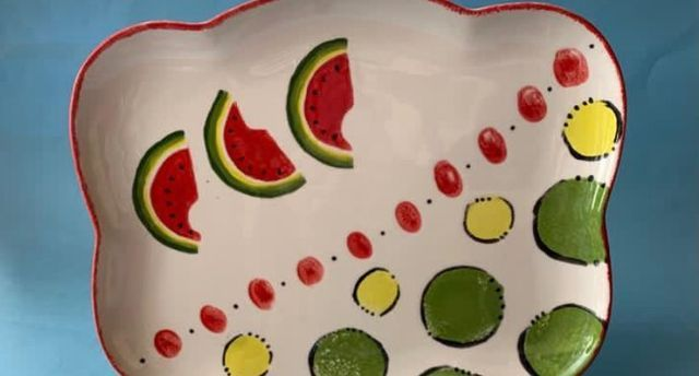 Paint It Yourself Pottery: Watermelon Plate