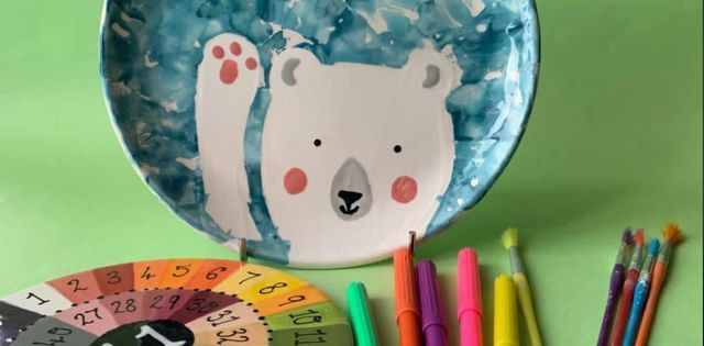 Paint It Yourself Pottery: Bear Plate