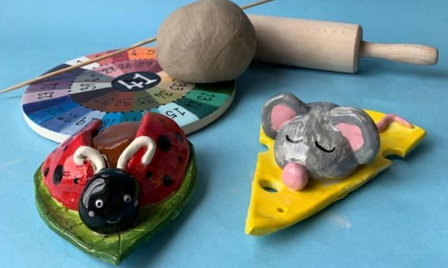 Paint It Yourself Pottery: Clay Ladybird or Mouse