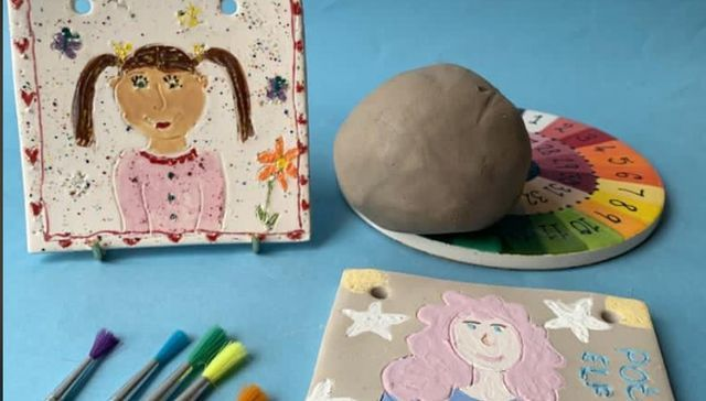 Paint It Yourself Pottery: Clay Selfie