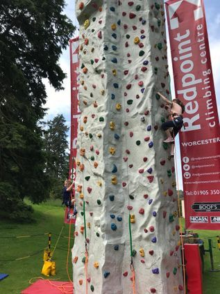 Climbing Wall at Eastnor Castle