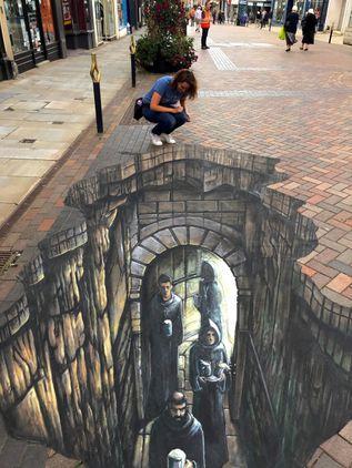 Interactive Archaeology (3D Street Art)