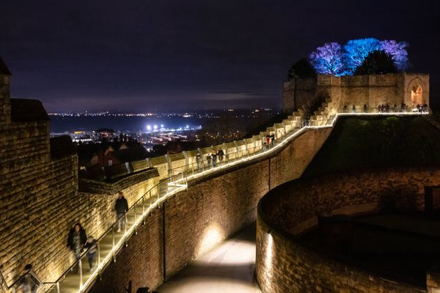 Lincoln Castle Illuminated